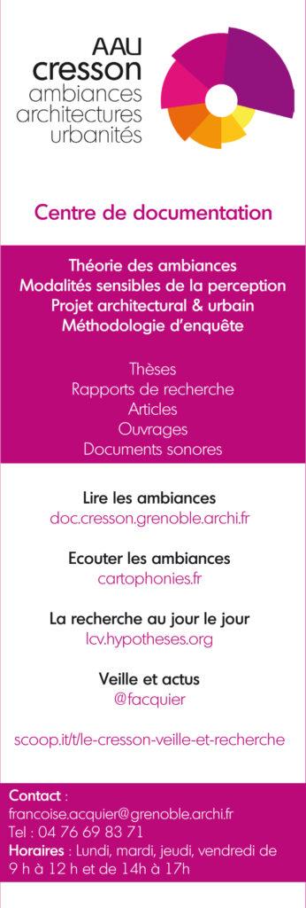 Flyer de communication du Catalogue