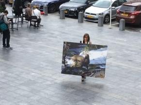 Au Luxembourg, la fonctionnaire a imaginé une série d'images animalières (chevreuil, sanglier, cygne) sur la place d'Armes et place Guillaume II.