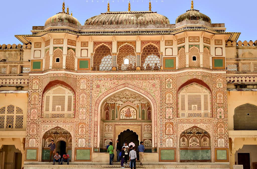 Photographie de la Porte Ganesh du fort d'Amber