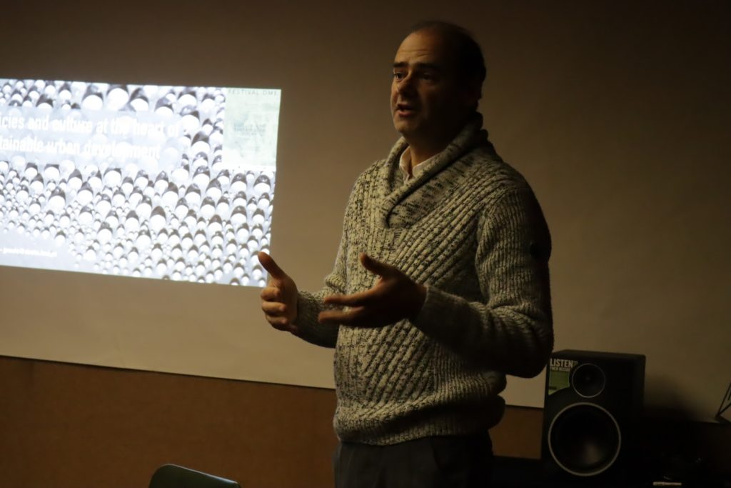 """Photographie de Joel Preto paulo de ISEL -IPL lors de sa présentation de """"Policies and culture at the heart of sustainable urban development"""""""